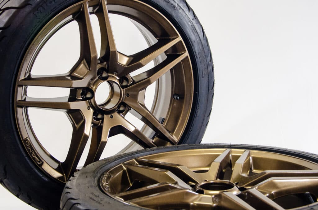 Wheel and rim powdercoating package